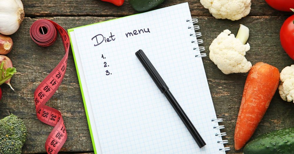 меню для похудения блокнот запись